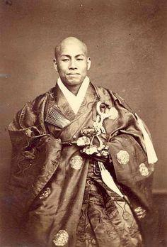 A Buddhist monk. c. 1870
