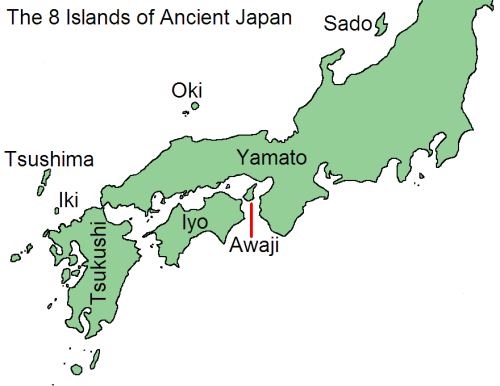 The 8 islands of ancient Japan