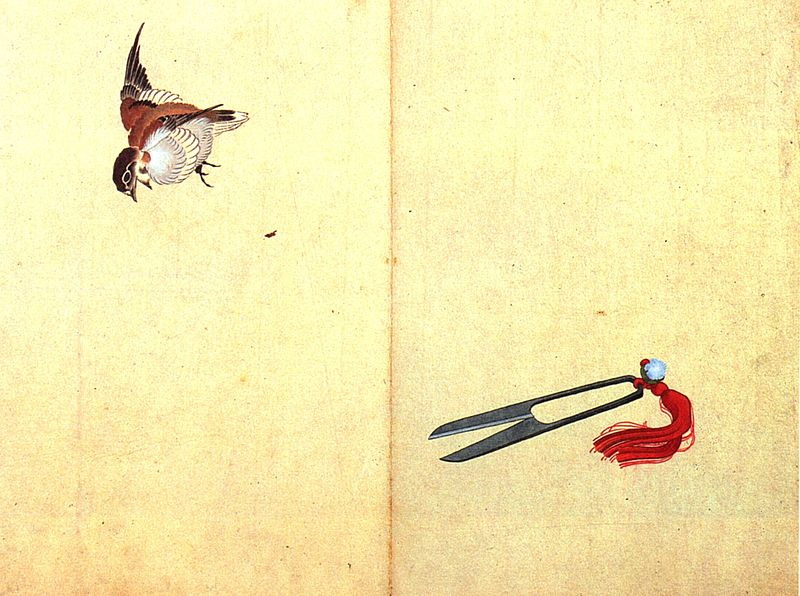 Sparrows - Hokusai