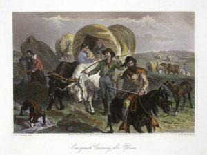 American settlers heading West.