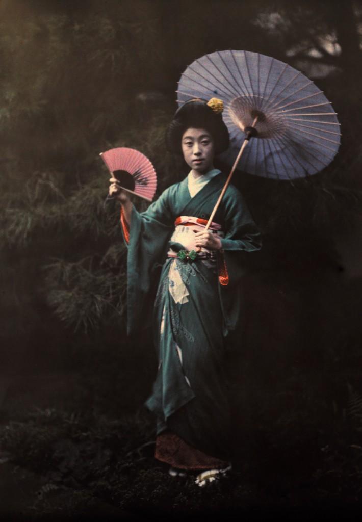 Geisha in her Kimono. Kyoto, June 1927