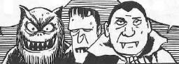 western monsters Kitarou Kitaro wolfman dracula Frankenstein