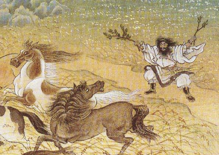 Susanoo Skinning a Pony by Kinuko Y. Craft