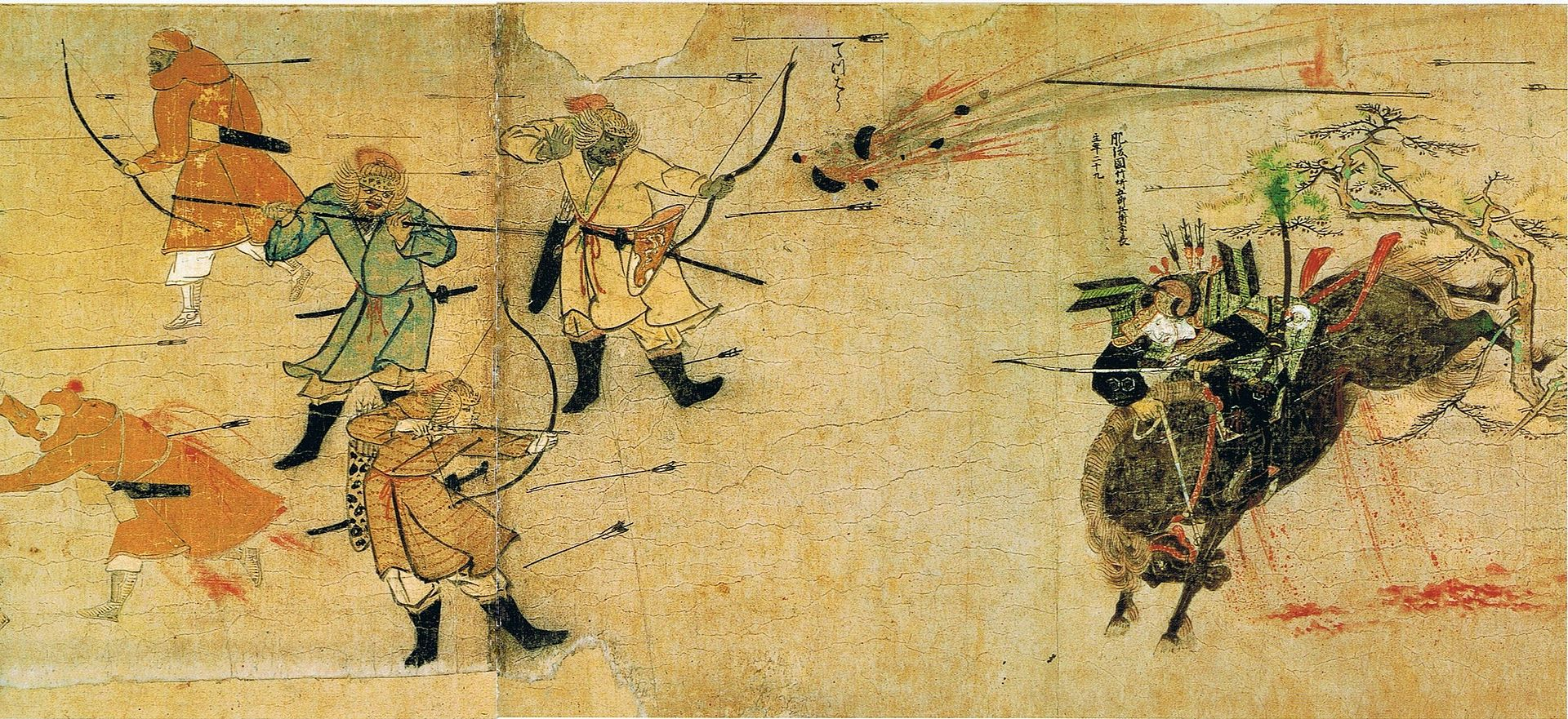 Samurai, facing Mongol arrows and bombs.