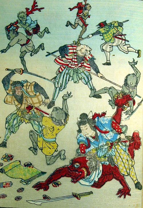 Momotaro's Battle with Ogres