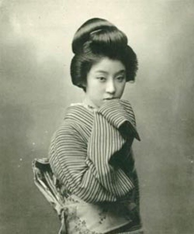 Geisha Black and White Photo