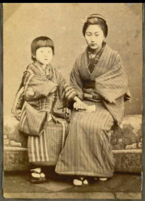 A Japanese mother with her child.