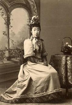japanese woman western clothing