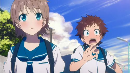 Kaname (left) and Hikari (right). Their surprised reactions capture the difference between extroverts (Hikari) and introverts (Kaname).