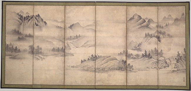 Landscape of the Four Seasons. Muromachi period. Kangaku Shinso