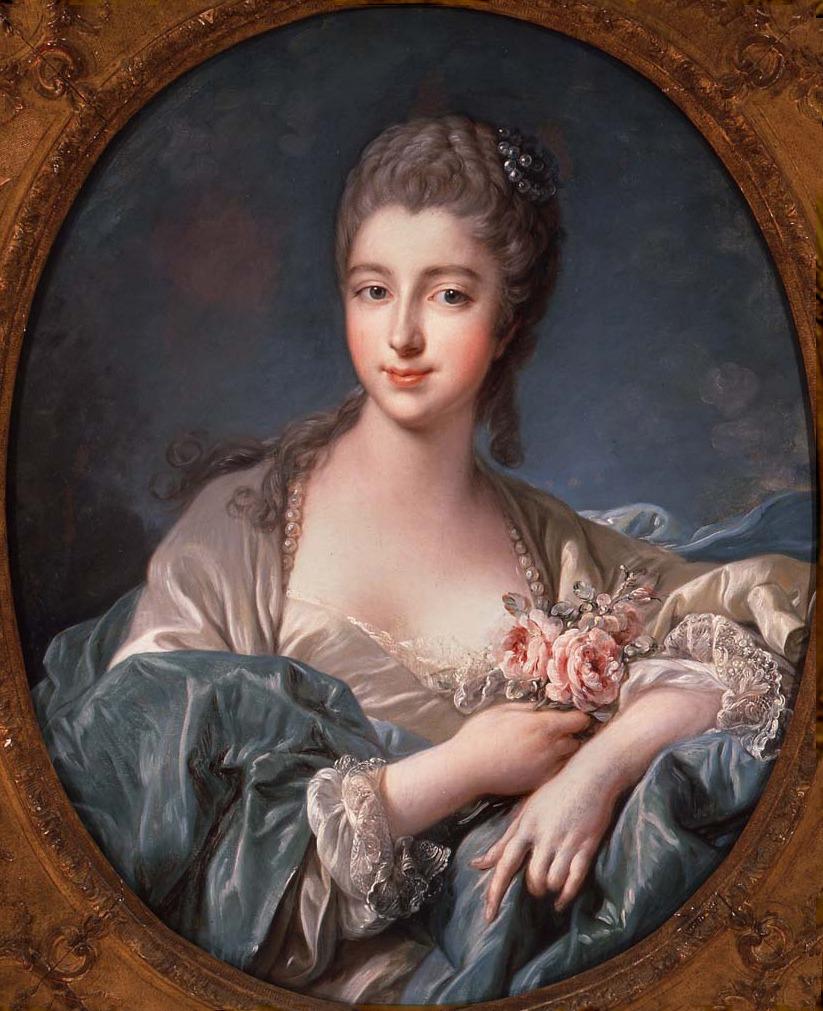 The Marquise de Pompadour rocking an early pompadour.
