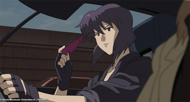 Motoko Kusanagi Purple Hair