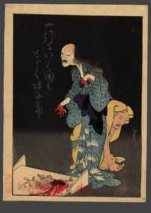 Oiwa O'iwa hair blood ukiyoe