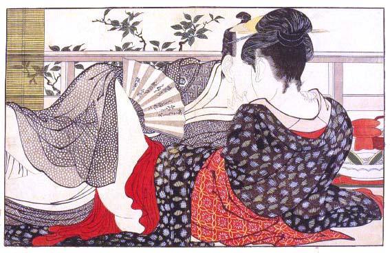 Shunga print by Kitagawa Utamaro 1753 – 1806