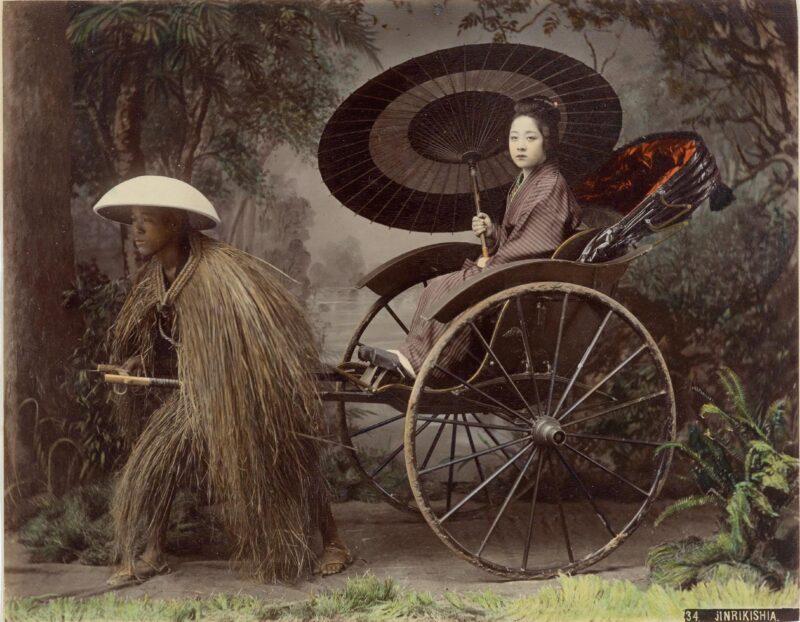 Jinrikisha by Kusakabe Kimbei