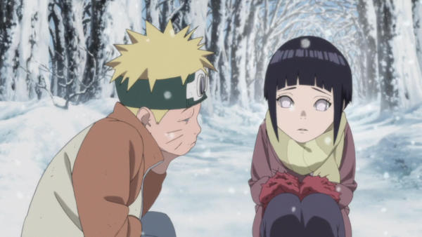 Hinata doesn't have confidence at first.
