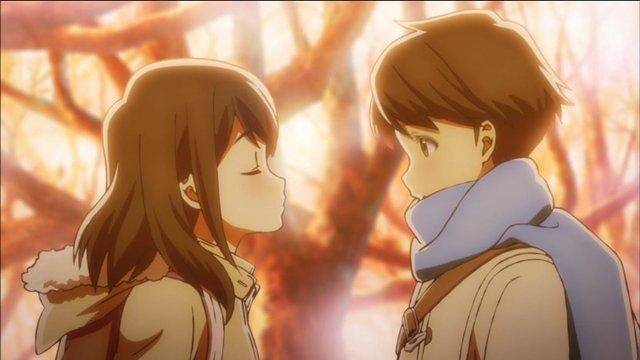 Scenes can also inspire moe, such as this from Tsuki ga Kirei