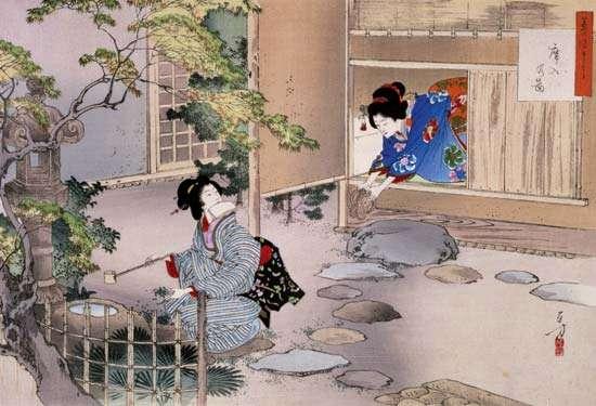 Ukiyo-e by Mizuno Oshikata 1895.