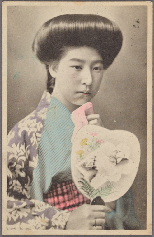 Japanese woman and fan