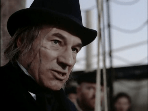 Patrick Stewart played a great Captain Ahab.
