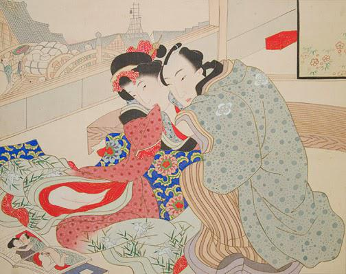 A shunga painting based on Ikkyu's work.