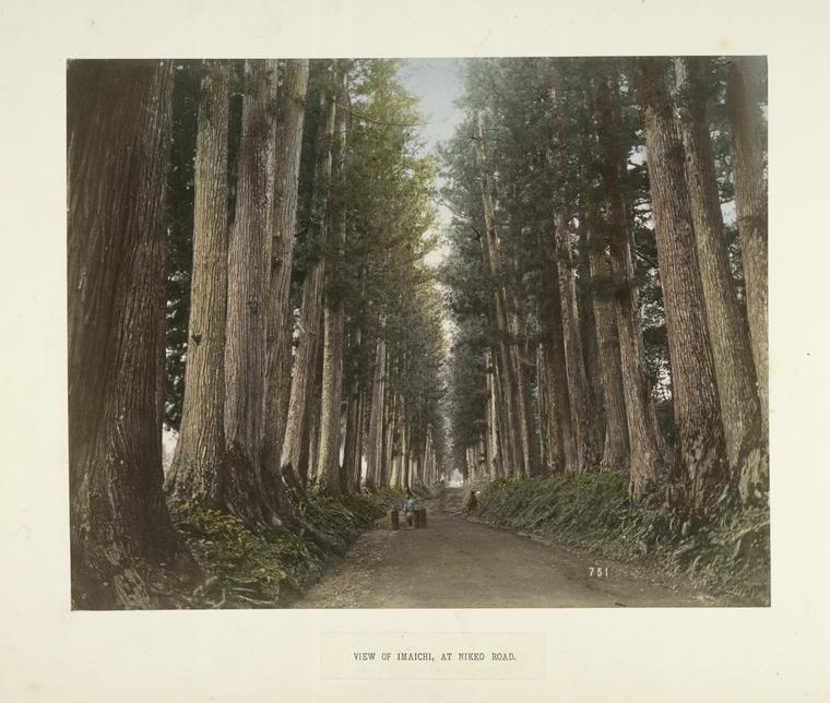 View of Imaichi at Nikko Road by Kimbei Kusakabe